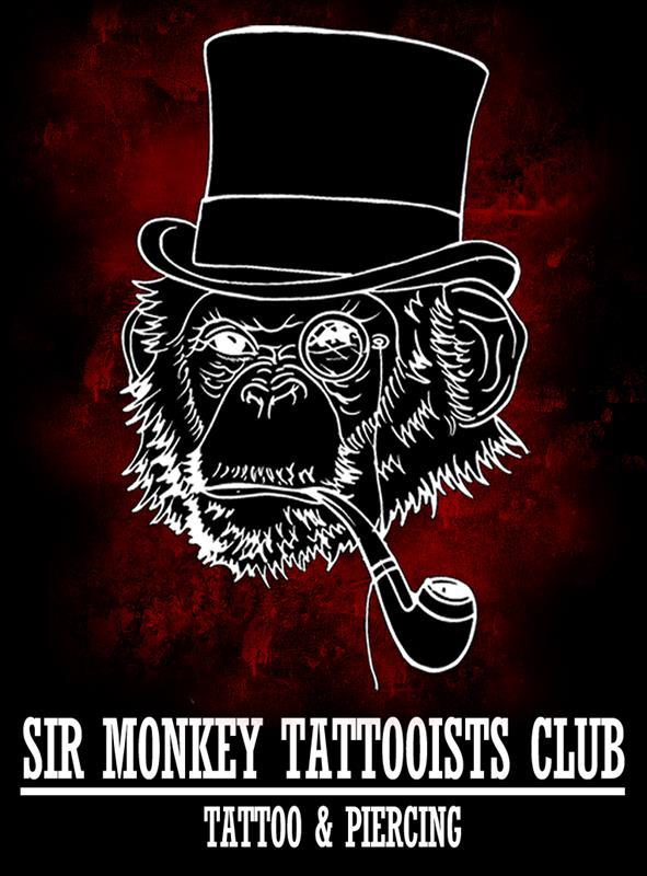 logo sir monkey tattooists club