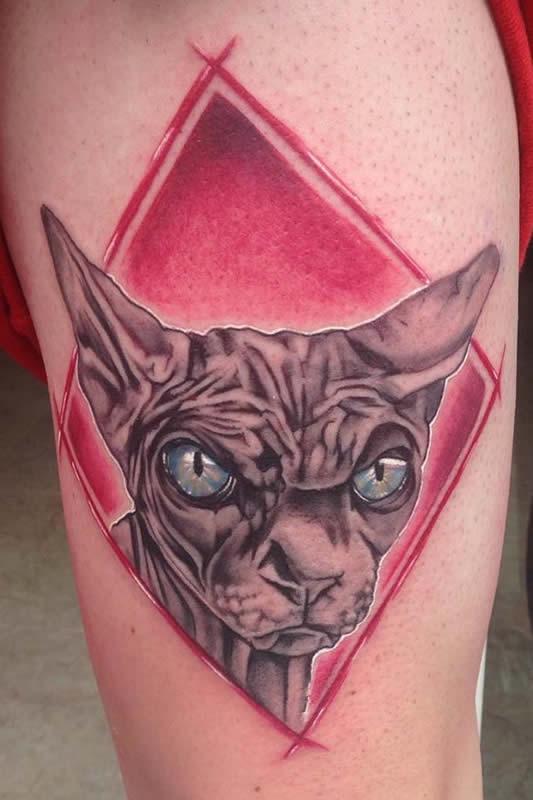 tatuajes asunto morena en Reus