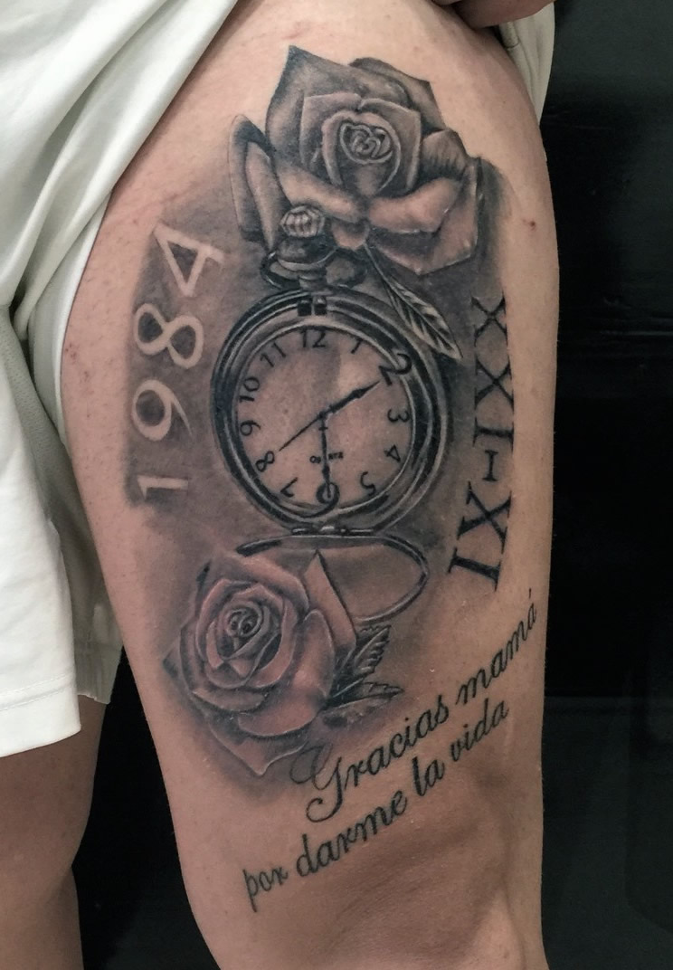 tatuajes-madrid-silverneedle-reloj-lettering-rosas