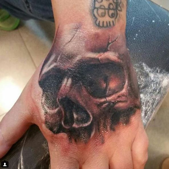 tatuaje de calavera realista