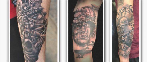 tatuaje de temática de guerra
