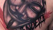 Tatuaje de V de Vendetta