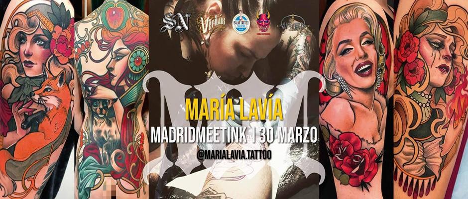 Madrid Meetink con María Lavía. Seminario de Tatuajes en Madrid.