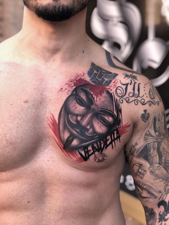 Tatuaje de la película V de Vendetta